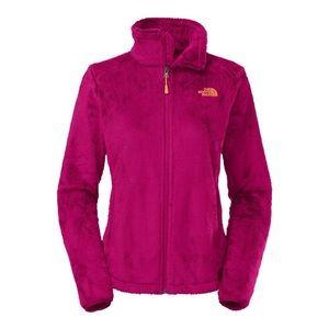 The north face magenta fuzzy osito 2 zip up jacket